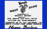 Yogi's Great Escape Atari 8-bit Title screen