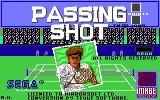 Passing Shot Commodore 64 Title screen
