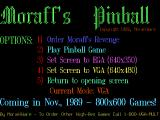 Moraff's Pinball DOS The game's title screen