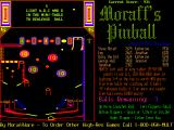 Moraff's Pinball DOS A game in progress