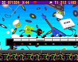 Zool Amiga Music World - the keyboard. I tried to play a little silly melody, but Zool is fast and it's not so completely easy to land on the key you need...