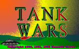 Tank Wars DOS The game's title screen