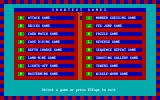 ShowText (included games) DOS Game menu: pick your poison
