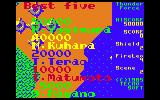 Thunder Force PC-6001 High scores