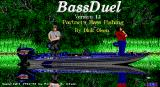 BassDuel DOS The game's title screen