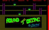 Roland Goes Digging Amstrad CPC Title screen