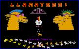 Llamatron: 2112 DOS Title screen and menu (VGA)
