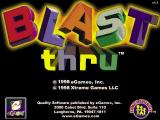 Blast Thru Windows The game's title screen