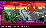 Manhunter 2: San Francisco DOS San Francisco following the orb invasion. (EGA/Tandy)