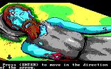Manhunter 2: San Francisco DOS You encounter many dead bodies in the game. (EGA/Tandy)