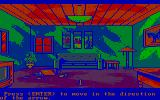 Manhunter 2: San Francisco DOS Exploring a crime scene. (CGA with RGB monitor)