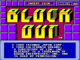 Blockout Arcade Title Screen