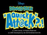 Disney's Donald Duck: Goin' Quackers Windows The game's title screen