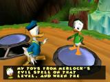 Disney's Donald Duck: Goin' Quackers Windows Hughey explains that Donald has to collect bits of machinery.
