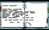 Kenny Dalglish Soccer Manager Commodore 64 Scout report