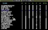 Kenny Dalglish Soccer Manager Commodore 64 League table