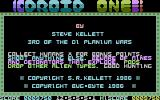 Droid One Commodore 16, Plus/4 Title Screen