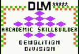 Demolition Division Apple II Title screen