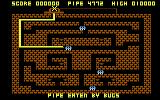 Diamond Mine Atari 8-bit Pipe eaten by bugs