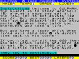 Gulp 2 ZX Spectrum Title and game instructions