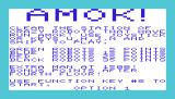 Amok VIC-20 Title screen