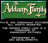 The Addams Family Game Gear Title