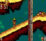The Jungle Book Game Gear Monkeys throw fruit at you