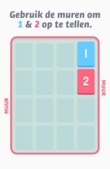 Threes! Android Explanation of how walls are used to bring tiles together (Dutch version).
