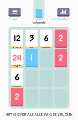 Threes! Android Once you are really playing, the next piece is shown (Dutch version).