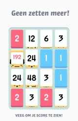 Threes! Android No more moves! (Dutch version)
