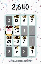 Threes! Android Calculating the score (Dutch version).