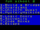 Fun School 2: For the Over-8s ZX Spectrum Game selection