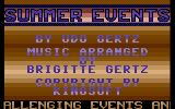 Summer Events Commodore 16, Plus/4 Title Screen