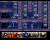 Cyber Kick Amiga Numerous ladders on board