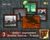 Ultimate Tennis Arcade Tournament selection