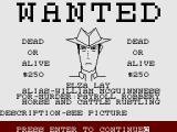 The Wild Bunch ZX Spectrum Looking at a wanted poster