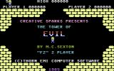 Tower of Evil Commodore 16, Plus/4 Title Screen