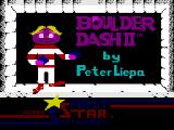 Boulder Dash II: Rockford's Revenge ZX Spectrum Title Screen