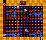 Honey Doll Arcade Type 2 bonus stage: collect apples in a maze while avoiding enemies and get to the exit (yellow down arrow)