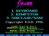 Snare ZX Spectrum Title Screen