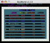 BoxWorld Macintosh High scores