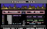 Tycoon Tex Commodore 16, Plus/4 Title Screen