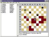 The Game of the Amazons Windows 3.x A game in progress showing how the move history is recorded and how blocked squares are depicted.