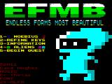 EFMB: Endless Forms Most Beautiful ZX Spectrum Title Screen