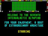 Popeye 3: WrestleCrazy ZX Spectrum Welcome