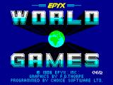 World Games ZX Spectrum Loading screen