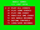 World Games ZX Spectrum Options