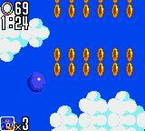 Sonic the Hedgehog 2 Game Gear Lots of rings in the sky today
