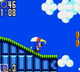 Sonic the Hedgehog 2 Game Gear For a spot of gliding