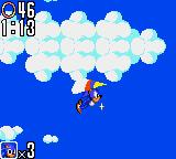 Sonic the Hedgehog 2 Game Gear Soaring through the clouds